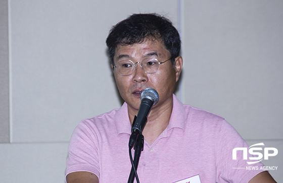 기업공개(IPO) 관련 기자간담회 현장. 사진은 박창신 대표. (사진 = 이복현 기자)