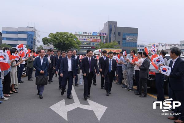 영천시 중국 개봉시 대표단 환영 모습. (사진 = 영천시)