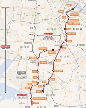 신안산선 복선전철 구간 (사진 = 국토교통부)