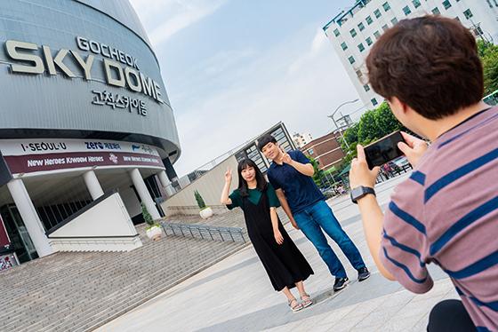 [포토]한국야구와 K팝스타 발자취 담은 '고척돔 아카이브존' 구축