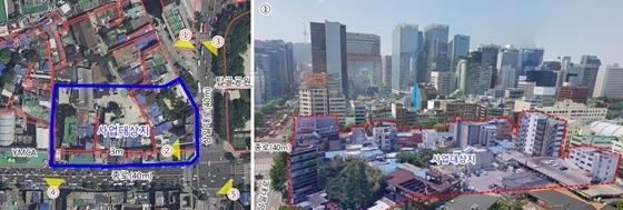 공평구역 제15·16지구 재개발 대상지 현황 및 전경 (사진 = 서울시)