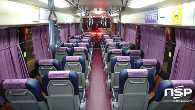 16일 오후 7시 10분쯤 H6006 버스 내부. 퇴근시간이지만 기자를 포함한 승객은 3명 뿐이다. (사진 = 남승진 기자)