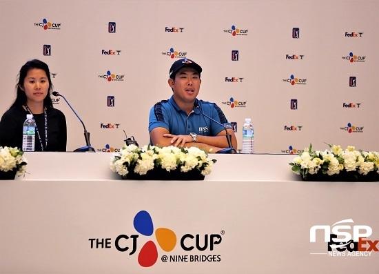 [NSP PHOTO]제주도 PGA 투어 더 CJ컵, 안병훈 8언더로 첫 날 선두