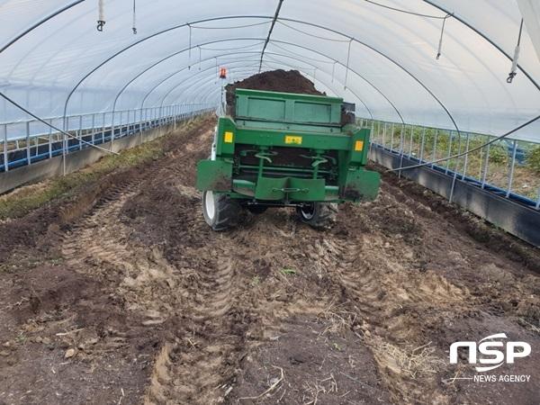 [NSP PHOTO]곡성군, 전국 유일 직접 가축분 퇴비 생산해 농가 공급 호응