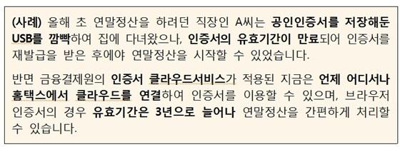 직장인 A씨의 연말정산 불편 사례 (사진 = 금결원)
