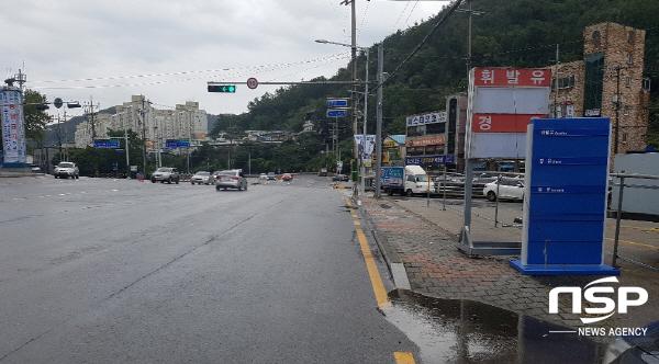 최근 행정안전부 사고위험 자전거도로정비 시범사업에 선정된 여수시 종합버스터미널~광무동 럭키아파트 구간 전경 (사진 = 여수시)
