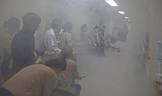 ▲순천향대천안병원이 화재안전 소방 합동훈련을 실시했다. (사진 = 순천향대천안병원)