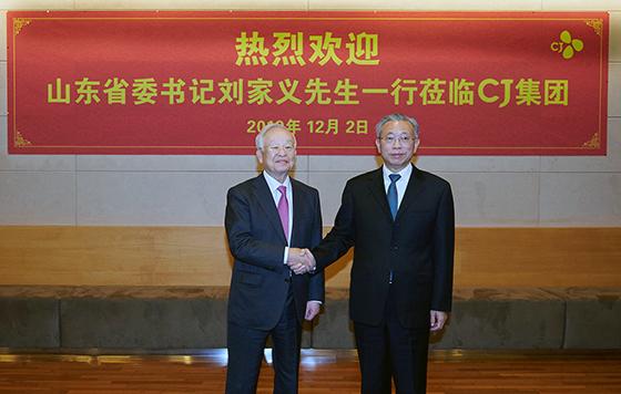 [NSP PHOTO]CJ 손경식 회장, 류자이 中 산동성 당위원회 서기와 상호협력 방안 논의