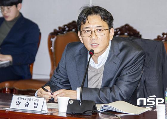 문화체육관광부 박승범 과장. (사진 = 이복현 기자)