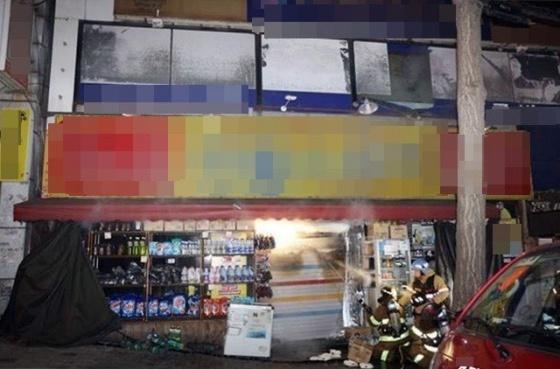 화재가 발생한 성남시 수정구 한 상가건물. (사진 = 경기소방재난본부)