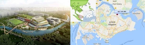 좌측부터 풍골 스포츠센터 조감도, 위치도 (이미지=현대건설)