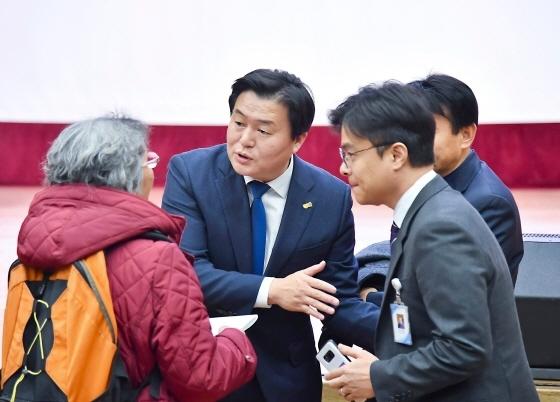 임병택 시흥시장이 2020 신년 인사회 일정에 참여하고 있다. (사진 = 시흥시)
