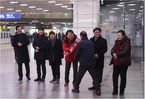 [포토]김용남 국회의원 예비후보, 설맞이 귀성인사