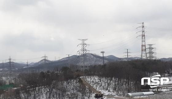 서서울변전소 인근 송전탑들. (사진 = 남승진 기자)