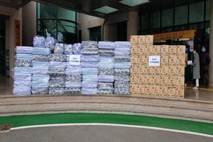 [포토]경북시군의회의장협의회, 청도군에 코로나19 극복 지원물품 전달