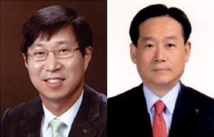 (왼쪽부터) 김인석 하나생명 사장 후보, 오태균 하나펀드서비스 사장 후보