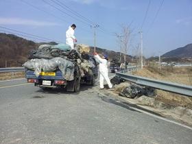 [포토]진안군, 봄철 영농폐기물 내달 17일까지 집중 수거
