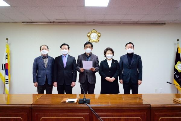 목포시의회 일부 의원들 성명발표 (사진 = 목포시의회 성명 참여 의원측)