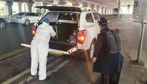 ▲천안시가 해외입국자에 대해 자택까지 이동할 수 있는 교통수단을 지원한다. (사진 = 천안시)