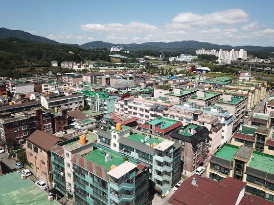 용인시 관내 소규모 공동주택이 밀집해 있는 지역 모습. (사진 = 용인시)