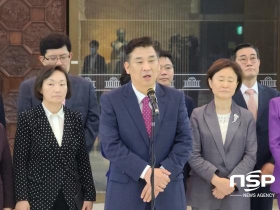 최승재 미래통합당 국회의원이 당선자 신분으로 발언하고 있는모습 (사진 = 강은태 기자)