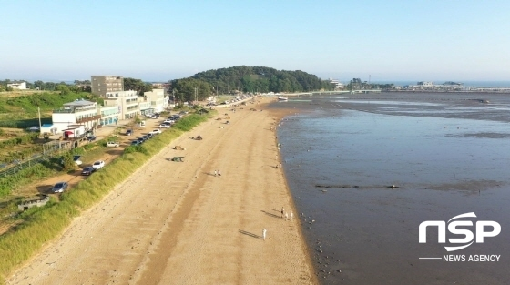 궁평리 해수욕장 해변 모습. (사진 = 조현철 기자)
