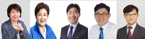 완쪽부터 고양시의회 각 상임위원장에 선출된 김덕심·강경자·김운남·문재호·정봉식 시의원 (사진 = 고양시의회)