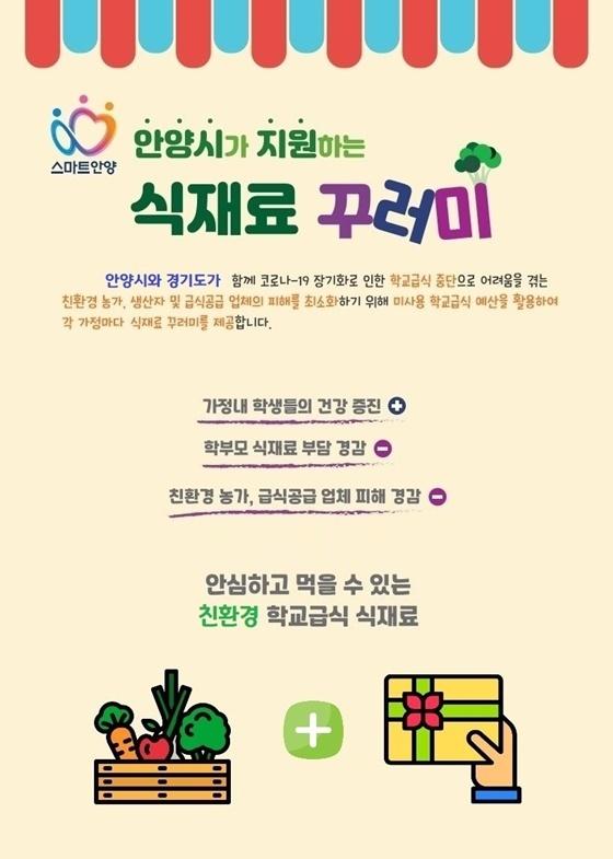 친환경 농산물꾸러미 지원 홍보물. (사진 = 안양시)