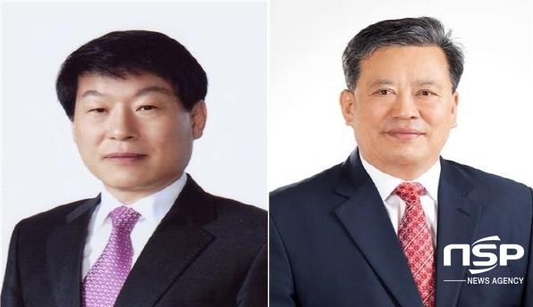 (왼쪽부터)신임 배광우 의장, 신임 김광호 부의장