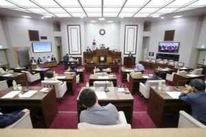 [포토]제8대 구미시의회 후반기 의장단 원구성 마무리