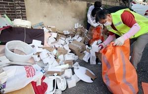 [NSP PHOTO]노박래 서천군수, 환경미화원과 쓰레기 수거·대청소