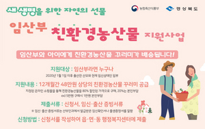 [NSP PHOTO]경북도, 임산부 '친환경농산물 지원' 시범사업 확대