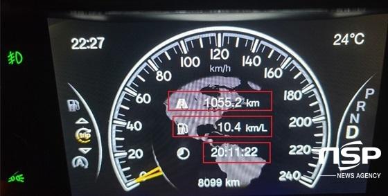 1055.2km를 20시간 11분 22초 동안 시승한 결과 지프 그랜드 체로키 리미티드 X의 실제 복합연비 10.4km/ℓ 기록 (사진 = 강은태 기자)