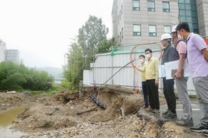 [포토]김상돈 의왕시장, 집중호우 하천시설물 현장점검