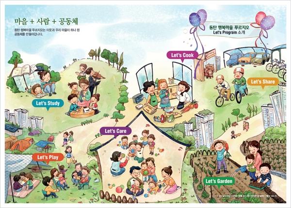 동탄 행복마을 푸르지오에 적용된 렛츠 프로그램(이미지=대우건설)