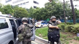 [NSP PHOTO][단독] 수원시 이마트에서 폭발물 발견, 경찰 군부대 출동...