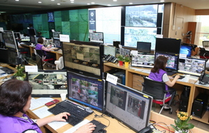 [NSP PHOTO]안양시, 스마트도시통합센터 CCTV로 성추행범 검거