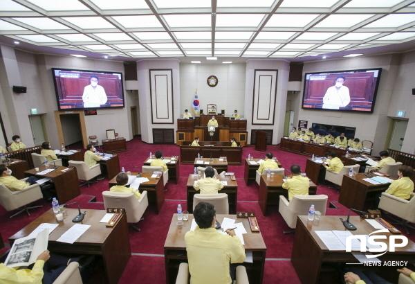 구미시의회는 17일 본회의장에서 열린 제243회 제2차 본회의를 끝으로 8일간의 임시회 의사일정을 마무리했다. (사진 = 구미시의회)