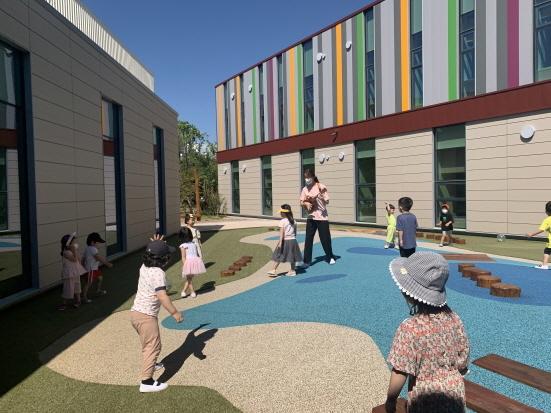 포스코 금당어린이집의 옥상 놀이터 (사진 = 포스코 제공)