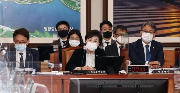 김현미 국토부 장관(사진=사진 공동취재단)