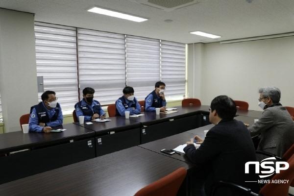 포스코노동조합이 포항MBC를 방문해 프로그램에 대해 항의를 하고 있다. (사진 = 포스코노동조합)