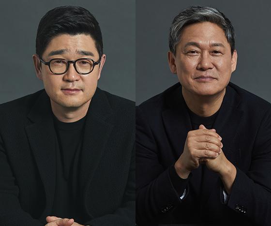카카오페이지 이진수 대표와 카카오M 김성수 대표. (사진 = 카카오페이지)