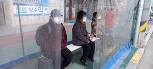 [NSP PHOTO]상주시, 버스승강장에 탄소온열에어벤치 설치