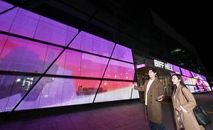 [NSP PHOTO]LG전자, 투명 LED 필름으로 부산 영화의전당 벽 수놓다...