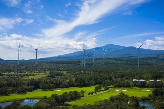 한화건설이 건설한 제주 수망 풍력발전단지 (사진 = 한화건설)