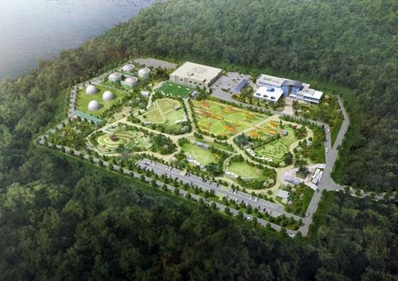 지상이 공원 및 체육문화시설로 조성되는 대전하수처리장 조감도 (사진 = 한화건설)