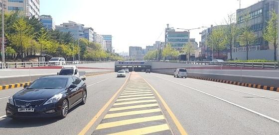 ▲대전시가 갈마·탄방 지하차도에 대한 시설개선 공사를 완료했다. (사진 = 대전광역시)