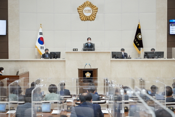 9일 용인시의회 본회의장 모습. (사진 = 용인시의회)