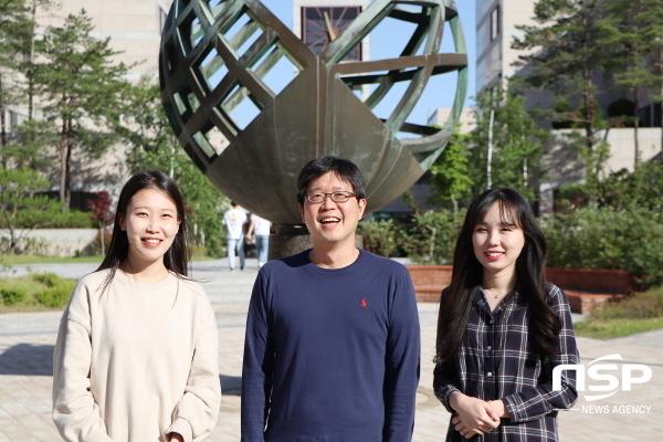 사진 왼쪽부터 김민경 씨, 노준석 교수, 소순애 씨 (사진 = 포스텍)