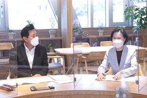 [NSP PHOTO]김수영 양천구청장, 오세훈 서울시장 면담…주민숙원사업 적극해결 요청